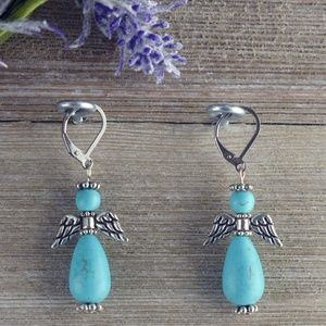 COPY - Faux Turquoise Angel Stainless-Steel Earri…